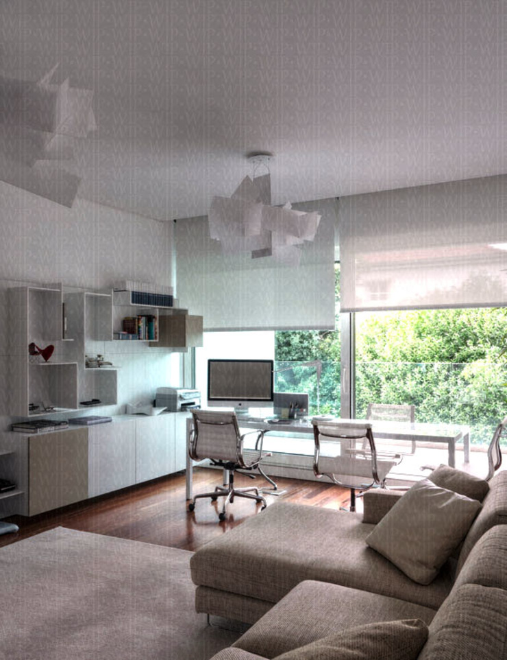 Office Modern Study Room and Home Office by INAIN Interior Design Modern