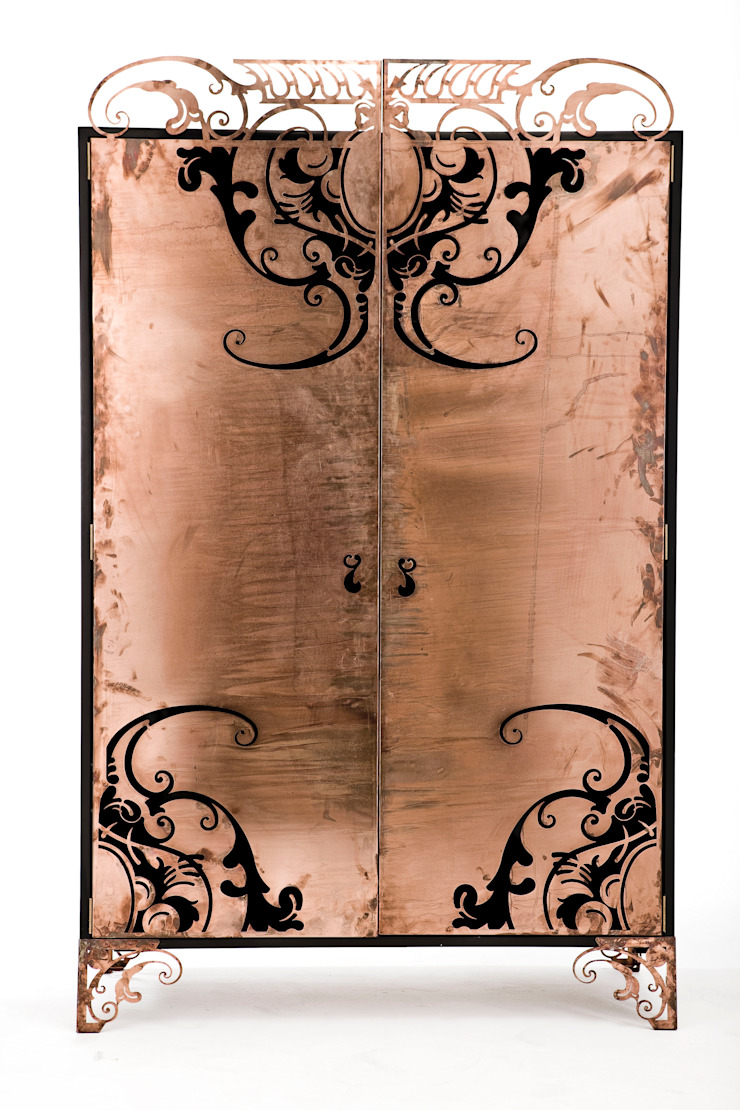Filligree cabinet: modern  by Egg Designs CC, Modern Copper/Bronze/Brass