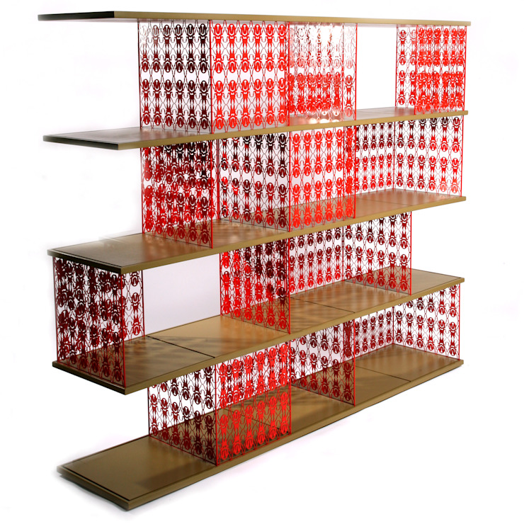 Bug modular shelf: modern  by Egg Designs CC, Modern Iron/Steel
