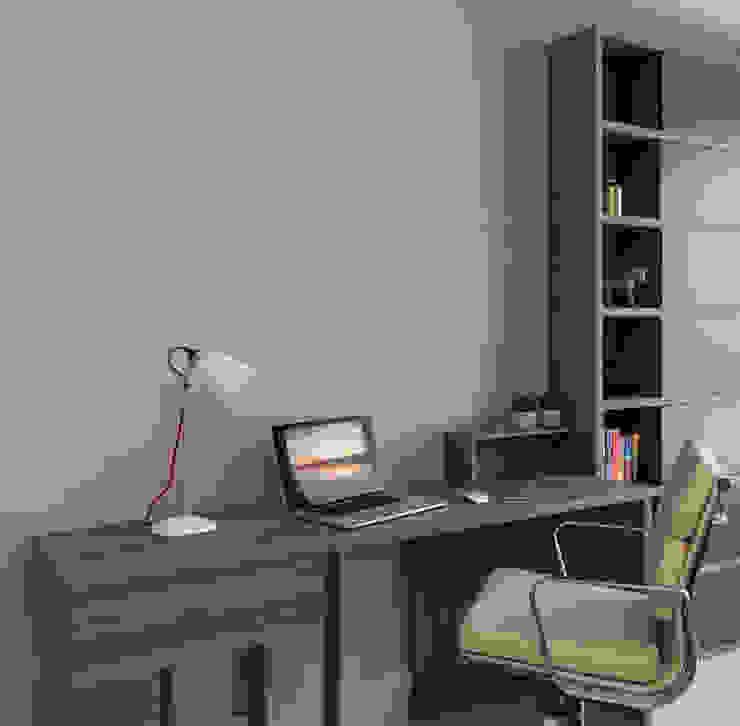 Vauxhall Riverside: Office / Guest Bedroom Phòng học/văn phòng phong cách hiện đại bởi homify Hiện đại