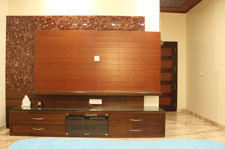 TV cabinet for younger son's bedroom: modern  by SA Architects,Modern Wood Wood effect