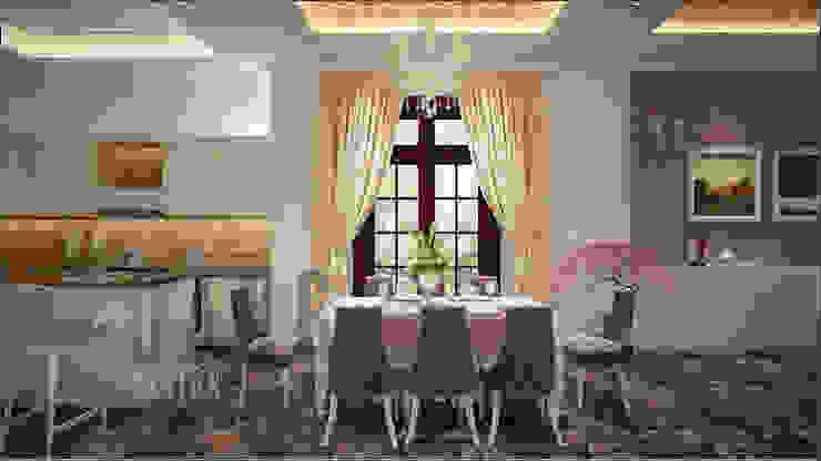 không gian phòng ăn Phòng ăn phong cách châu Á bởi DCOR Châu Á