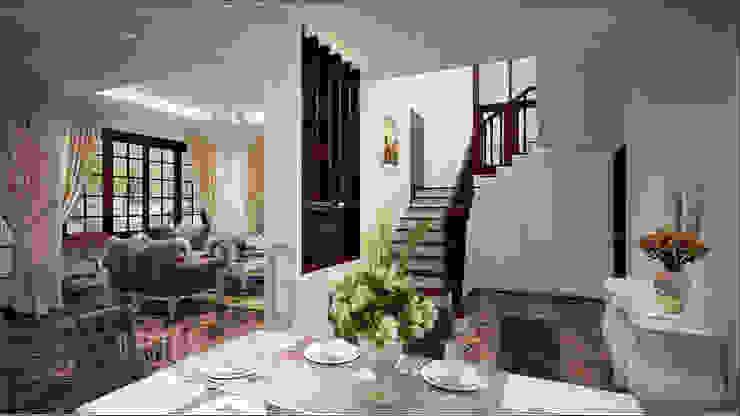 Thiết kế cầu thang Hành lang, sảnh & cầu thang phong cách châu Á bởi DCOR Châu Á