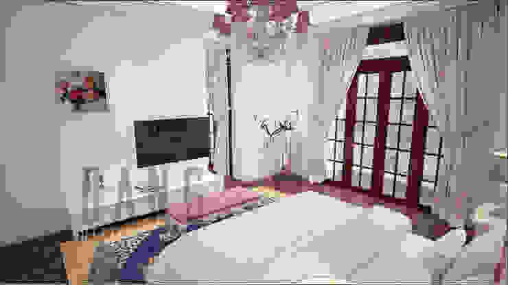 Phòng bố mẹ Phòng ngủ phong cách châu Á bởi DCOR Châu Á