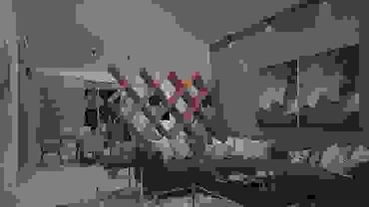 Casa Julieta Salas de estilo ecléctico de CONTRASTE INTERIOR Ecléctico