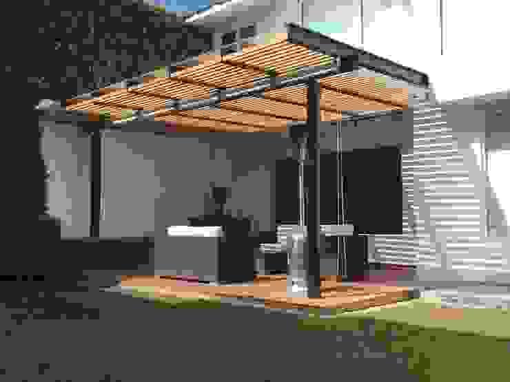 Balcon, Veranda & Terrasse minimalistes par Hall Arquitectos Minimaliste