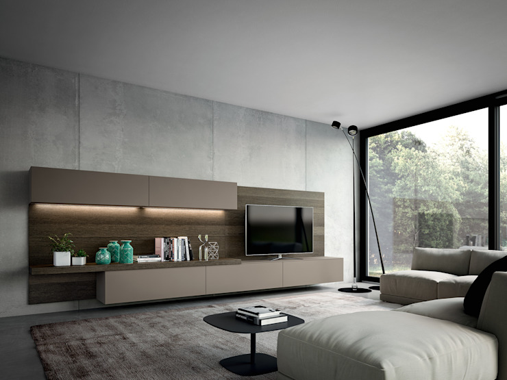 Modern style media rooms by ATELIER CASA S.A.S Modern