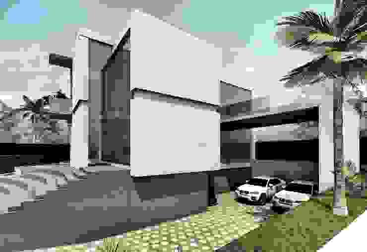 Fachada lateral Derecha de Elite Arquitectura y Asoc. SAS.