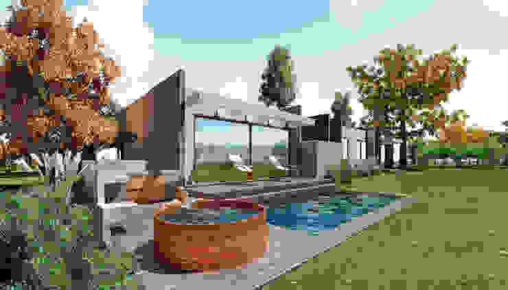 casa Asturias- prediseñada - valor desde 2950 uf. Casas estilo moderno: ideas, arquitectura e imágenes de NEF Arq. Moderno