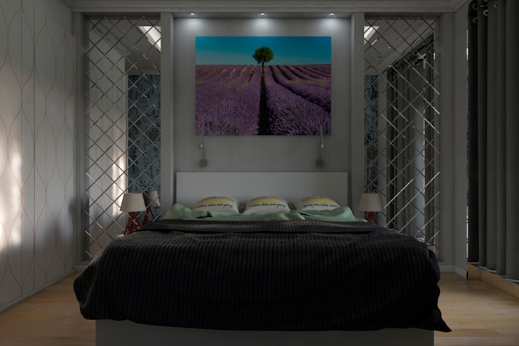 Minimalist bedroom by AG design Minimalist Glass
