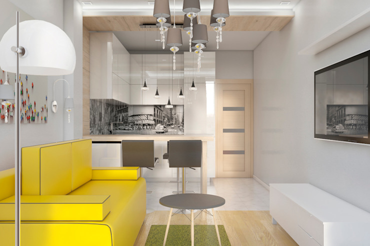 Minimalist living room by AG design Minimalist Glass