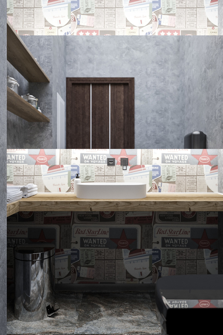Industrial style bathroom by AG design Industrial Concrete