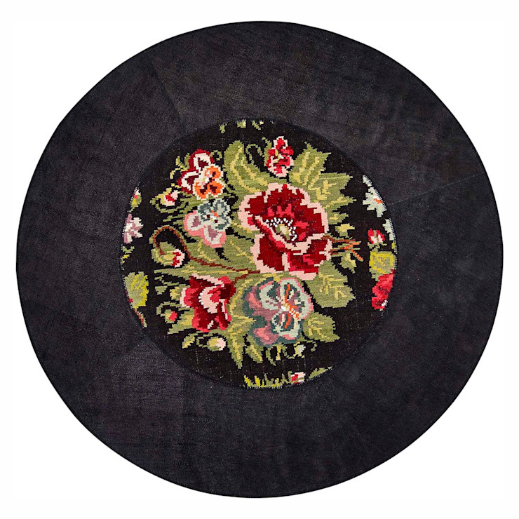 'Floreale' Unique luxury round rug by Sitap by My Italian Living Сучасний Дерево Дерев'яні
