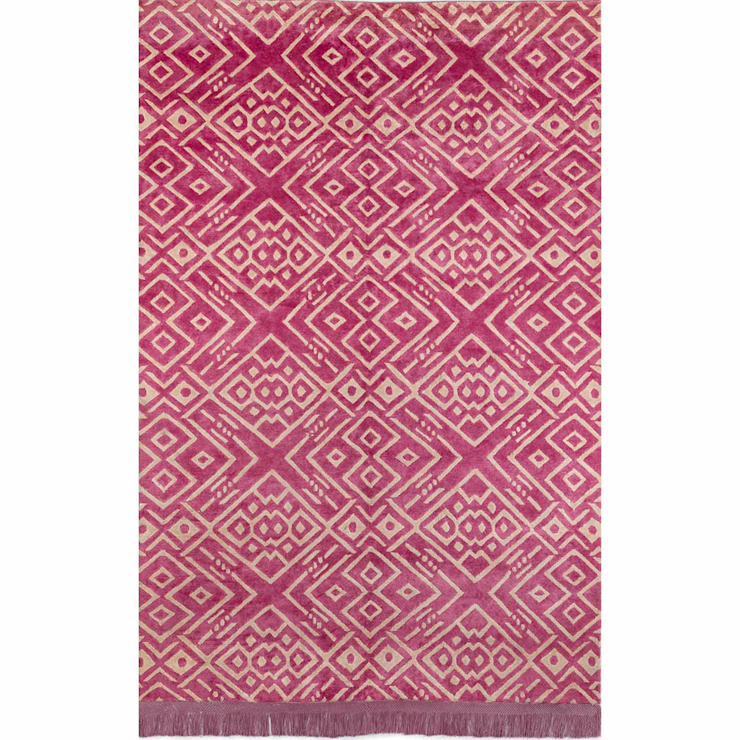 'Hippy' Unique luxury rectangular rug by Sitap od My Italian Living Nowoczesny Jedwab Żółty