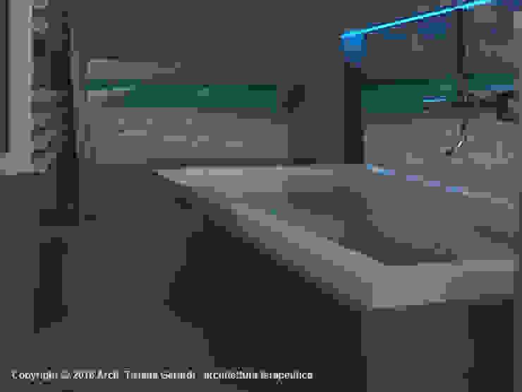 ArchitetturaTerapia® Baños de estilo moderno Cerámico Gris