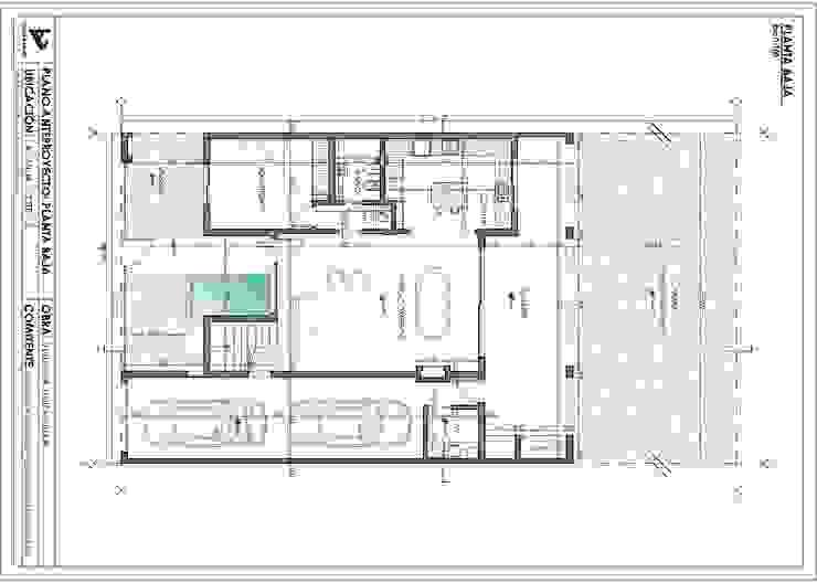 Casas de estilo  por Estudio de Arquitectura Lucía Farías
