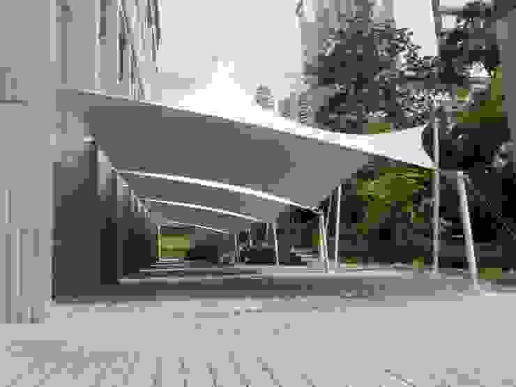 Коридор, прихожая и лестница в модерн стиле от Bocanumenth Arquitectura Textil Модерн
