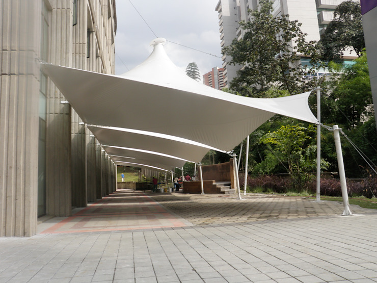 Modern corridor, hallway & stairs by Bocanumenth Arquitectura Textil Modern