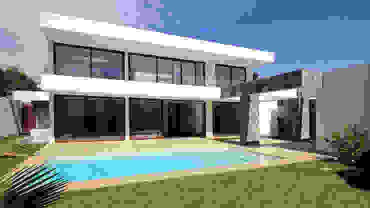 Condominio Huinganal Piscinas de estilo mediterráneo de Carvallo & Asociados Arquitectos Mediterráneo