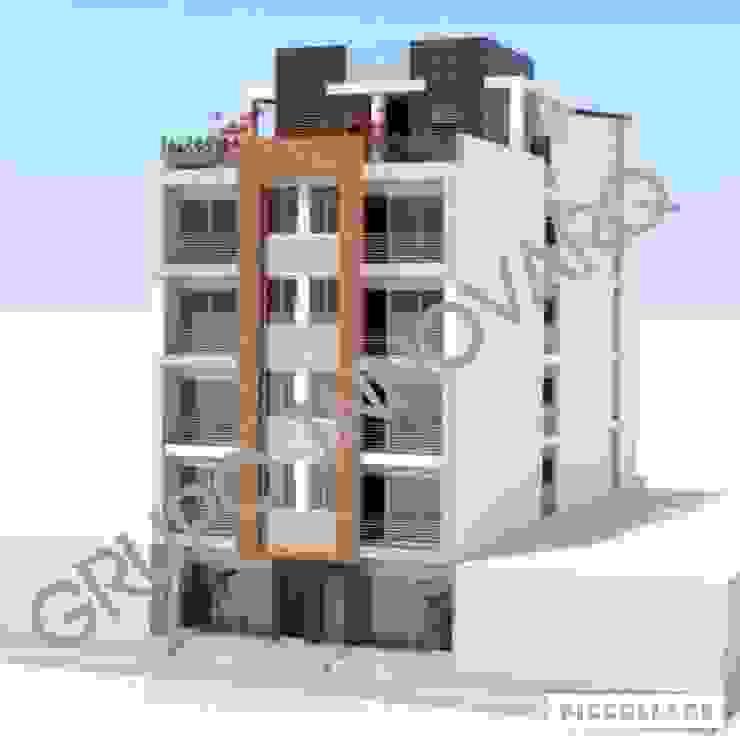 EDIFICIO MULTIFAMILIAR LOPEZ & LOPEZ BARBOSA Casas de estilo ecléctico de Grupo Inovarq Ecléctico