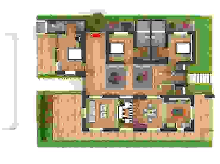 CASA CAMPESTRE PIEDECUESTA Habitaciones de estilo ecléctico de Grupo Inovarq Ecléctico