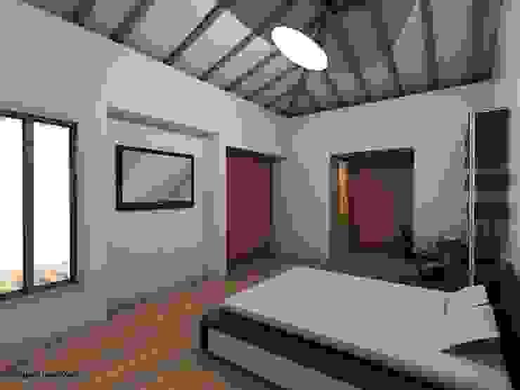 HABITACION PRINCIPAL CASA CAMPESTRE Habitaciones de estilo ecléctico de Grupo Inovarq Ecléctico