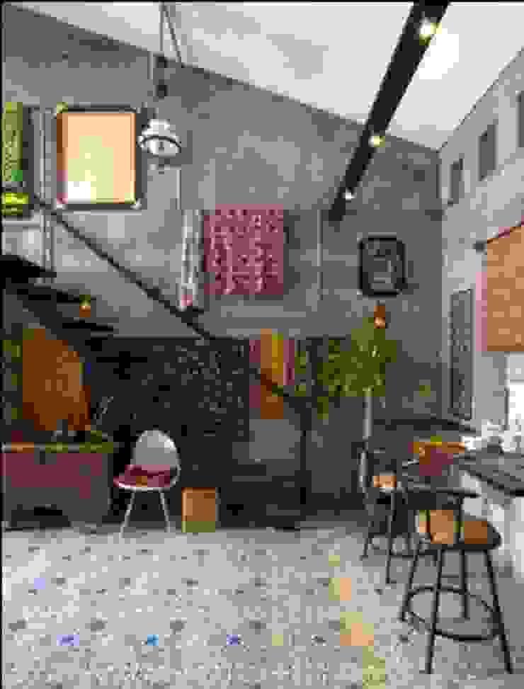 omah amoh Ruang Keluarga Gaya Rustic Oleh Gursiji studio & galeri Rustic