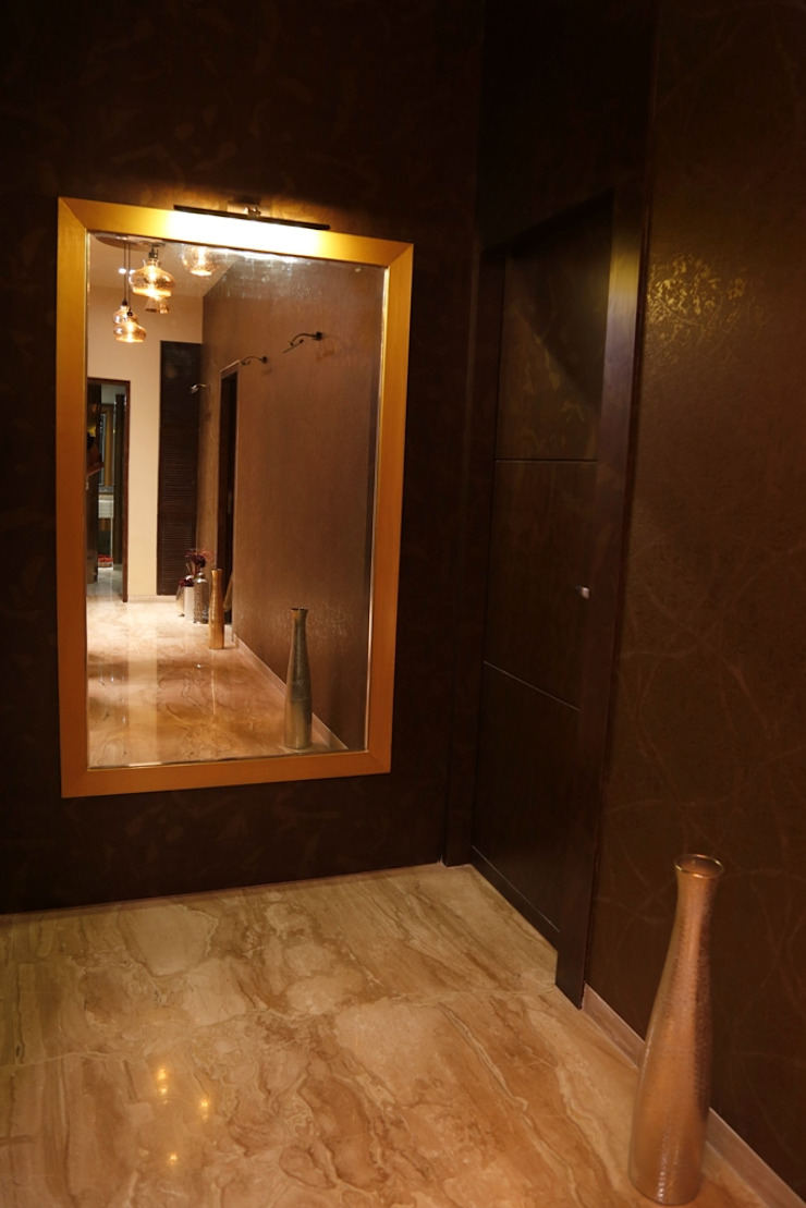Singh Bunglow—Kalyan Modern corridor, hallway & stairs by Aesthetica Modern