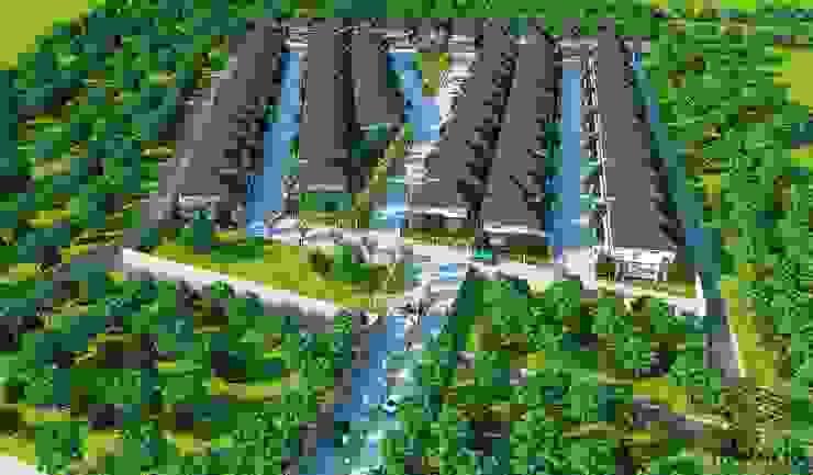 3d โครงการหมู่บ้าน โดย MaxShop