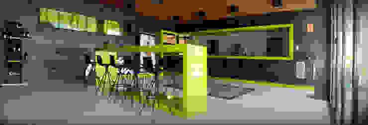 Salon moderne par Rafael Hernáez Loza AITEC Proyectos Moderne