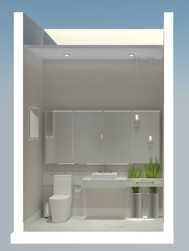 RESIDENCIA TAMBORÉ 11 Banheiros modernos por AJR ARQUITETURA Moderno