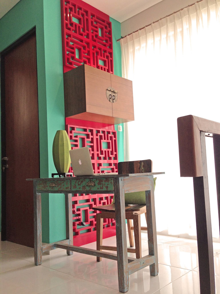 RANAH Eclectic style study/office Turquoise