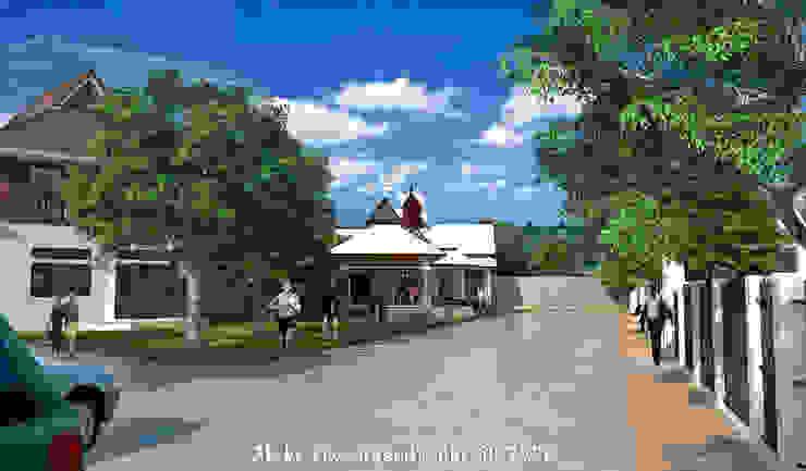ภาพ3Dโครงการหมู่บ้าน โดย MaxShop ผสมผสาน คอนกรีต