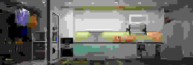 Bếp: hiện đại  by Công ty TNHH Thiết kế và Ứng dụng QBEST, Hiện đại