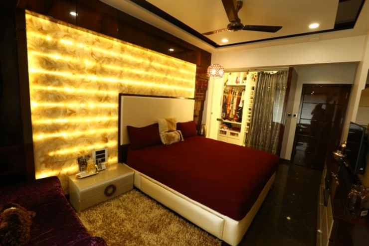 Basant Park - Chembur Modern style bedroom by Aesthetica Modern