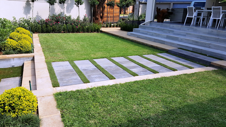 New driveways and garden for Wendal and Busi Modern Garden by Gorgeous Gardens Modern