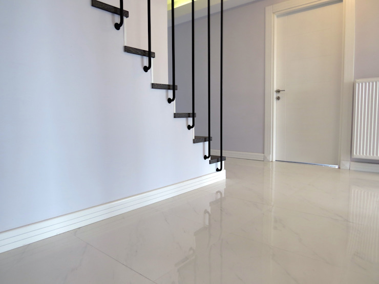 Modern Corridor, Hallway and Staircase by MİMPERA Modern Ceramic