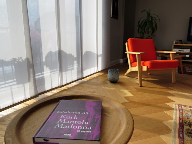 Scandinavian style living room by MİMPERA Scandinavian Wood Wood effect