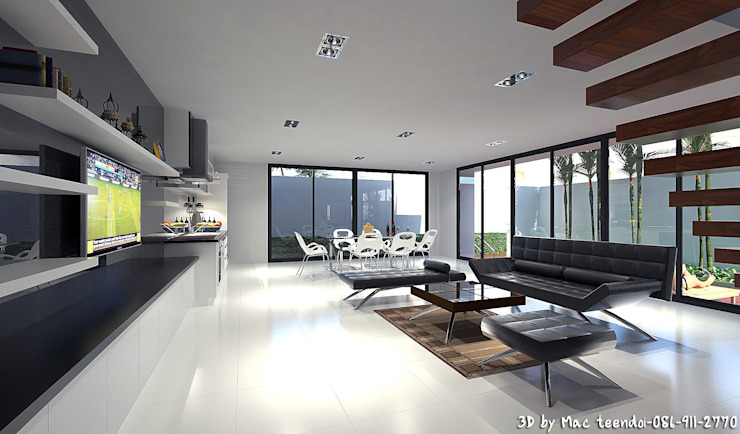 Modern living room by MaxShop Modern