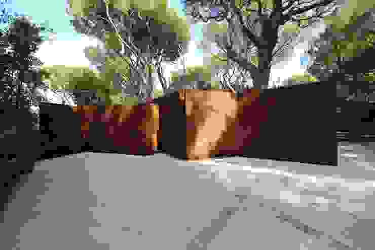 vista 3 Giardino in stile mediterraneo di Massimo Viti Architetto studio Architectural Make-Up+ Mediterraneo Ferro / Acciaio