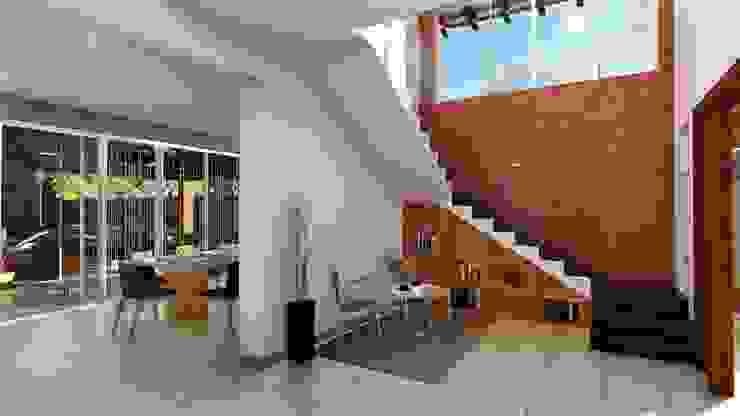 Recibidor Pasillos, vestíbulos y escaleras modernos de IAD Arqutiectura Moderno