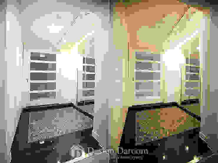 잠실 리센츠 아파트 현관 Design Daroom 디자인다룸 모던스타일 복도, 현관 & 계단