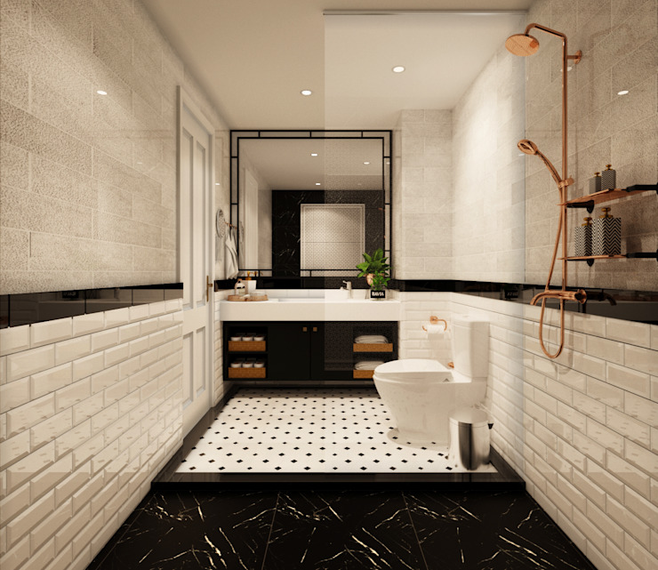 BATHROOM 2 Rustic style bathroom by 22Augustudio Rustic Ceramic