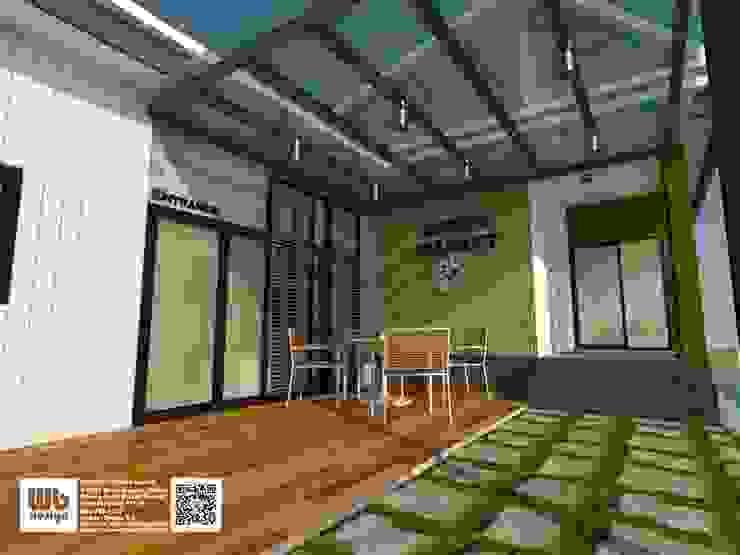 home office โดย Interior Design WB โมเดิร์น กระจกและแก้ว