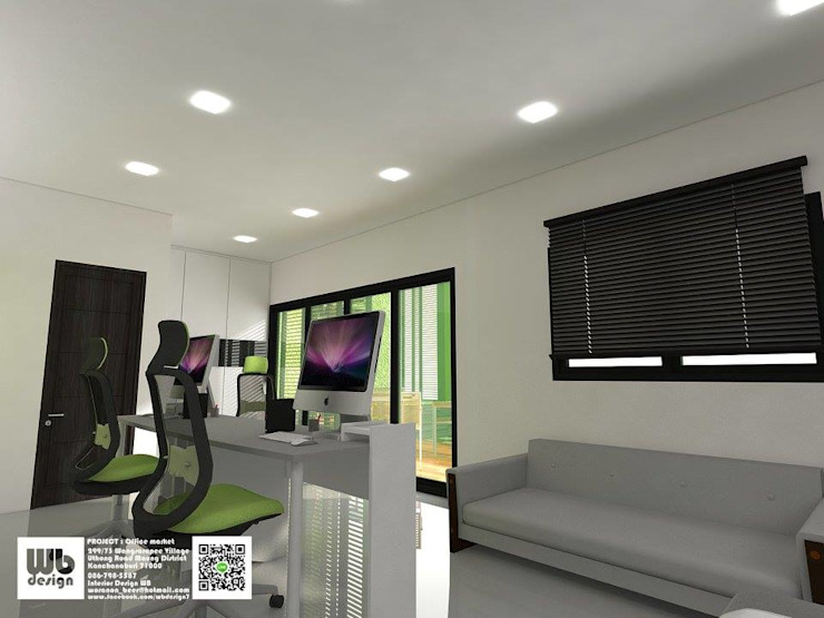 office: ทันสมัย  โดย Interior Design WB, โมเดิร์น แผ่น MDF