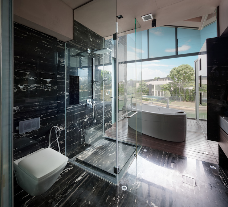 Asian style bathroom by E&U Asian
