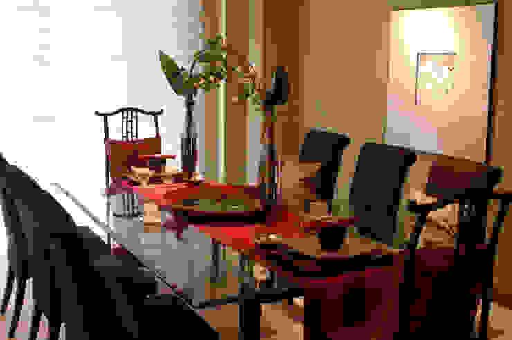 Dining Room Ruang Olahraga Gaya Asia Oleh E&U Asia Batu Bata