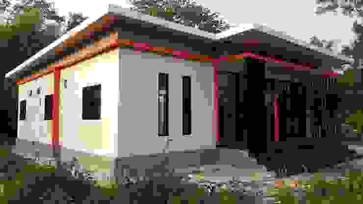 บ้านสไตล์โมเดริ์นพร้อมออฟฟิศในตัว โดย หจก.ที เค รับสร้างบ้าน