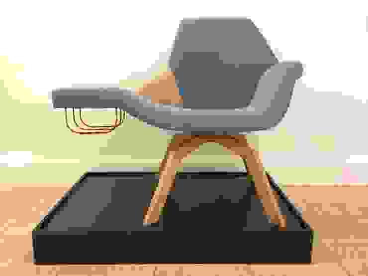 Lounge Chiar Fyrsta: modern  door Çedille by Françoise Oostwegel, Modern Textiel Amber / Goud