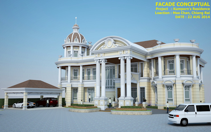 LIEOCHAROEN's RESIDENCE Classic style houses by CASAMIO Co.,Ltd. Classic